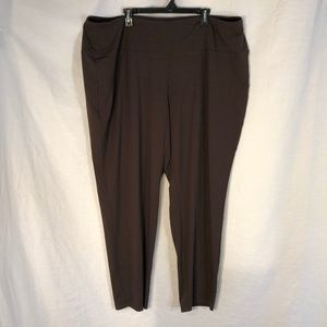 NWT J Jill Plus Size 4X Pants Wearever Brown 1482
